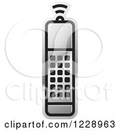 Clipart Of A Silver Remote Control Icon Royalty Free Vector Illustration by Lal Perera