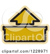 Clipart Of A Brown Out Or Upload Arrow Icon Royalty Free Vector Illustration