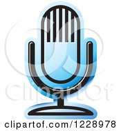Clipart Of A Blue Desk Microphone Icon Royalty Free Vector Illustration by Lal Perera
