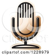 Clipart Of A Brown Desk Microphone Icon Royalty Free Vector Illustration by Lal Perera