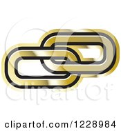 Clipart Of A Gold Link Icon Royalty Free Vector Illustration