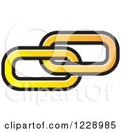 Clipart Of A Yellow And Orange Link Icon Royalty Free Vector Illustration