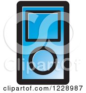 Clipart Of A Blue Ipod Mp3 Music Player Icon Royalty Free Vector Illustration