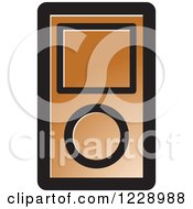 Clipart Of A Brown Ipod Mp3 Music Player Icon Royalty Free Vector Illustration