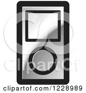 Clipart Of A Silver Ipod Mp3 Music Player Icon Royalty Free Vector Illustration