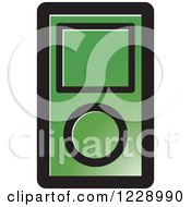 Clipart Of A Green Ipod Mp3 Music Player Icon Royalty Free Vector Illustration