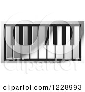 Clipart Of A Silver Piano Keyboard Icon Royalty Free Vector Illustration