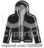 Clipart Of A Grayscale Jacket Icon Royalty Free Vector Illustration