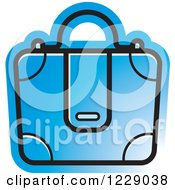 Clipart Of A Blue Briefcase Bag Icon Royalty Free Vector Illustration by Lal Perera
