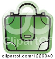 Clipart Of A Green Briefcase Bag Icon Royalty Free Vector Illustration by Lal Perera