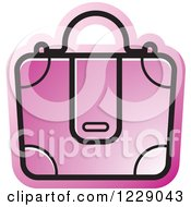 Clipart Of A Pink Briefcase Bag Icon Royalty Free Vector Illustration by Lal Perera