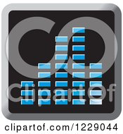 Clipart Of A Blue Music Equalizer Icon Royalty Free Vector Illustration by Lal Perera