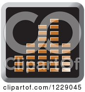 Clipart Of A Brown Music Equalizer Icon Royalty Free Vector Illustration by Lal Perera