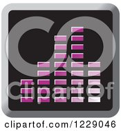Clipart Of A Purple Music Equalizer Icon Royalty Free Vector Illustration by Lal Perera