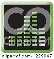 Clipart Of A Green Music Equalizer Icon Royalty Free Vector Illustration by Lal Perera