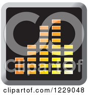 Clipart Of A Yellow And Orange Music Equalizer Icon Royalty Free Vector Illustration by Lal Perera
