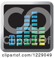 Clipart Of A Colorful Music Equalizer Icon Royalty Free Vector Illustration by Lal Perera