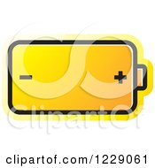 Clipart Of A Yellow Battery Icon Royalty Free Vector Illustration