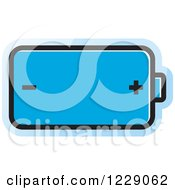 Clipart Of A Blue Battery Icon Royalty Free Vector Illustration