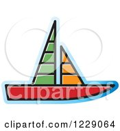 Clipart Of A Sailboat Icon Royalty Free Vector Illustration by Lal Perera