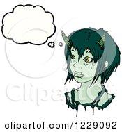 Thinking Green Devil Woman