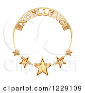 Clipart Of A Five Star Of Excellence Award Royalty Free Illustration