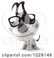 Clipart Of A 3d Happy Bespectacled Jack Russell Terrier Dog Royalty Free Illustration
