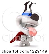 Clipart Of A 3d Super Jack Russell Terrier Dog On His Hind Legs Royalty Free Illustration