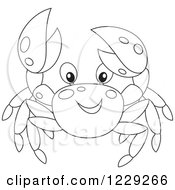 Clipart Of An Outlined Crab Royalty Free Vector Illustration