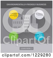 Clipart Of A Factory And Environmentally Friendly Business Bubbles Royalty Free Vector Illustration