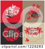 Clipart Of Butterflies And Valentine Greetings Royalty Free Vector Illustration by elena