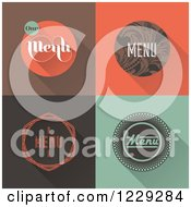 Clipart Of Vintage Menu Designs Royalty Free Vector Illustration by elena