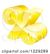 Clipart Of A 3d Golden Percent Symbol Royalty Free Vector Illustration