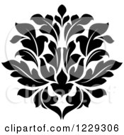 Clipart Of A Black And White Arabesque Damask Design 8 Royalty Free Vector Illustration