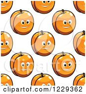 Clipart Of A Seamless Background Pattern Of Happy Apricots 2 Royalty Free Vector Illustration