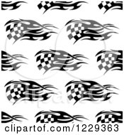 Clipart Of A Seamless Black And White Checkered Racing Flag Pattern Background Royalty Free Vector Illustration