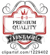 Clipart Of A Vintage Premium Quality Guarantee Label 5 Royalty Free Vector Illustration