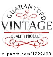 Clipart Of A Vintage Premium Quality Guarantee Label 6 Royalty Free Vector Illustration