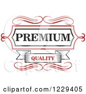 Clipart Of A Vintage Premium Quality Guarantee Label 3 Royalty Free Vector Illustration