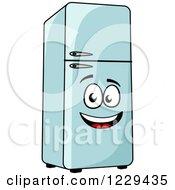 Clipart Of A Happy Retro Refrigerator Royalty Free Vector Illustration by Vector Tradition SM