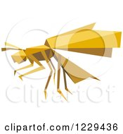 Clipart Of A Yellow Origami Paper Wasp Royalty Free Vector Illustration by Vector Tradition SM
