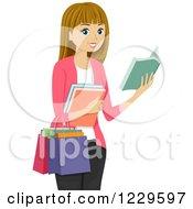 Teenage Girl Book Shopping