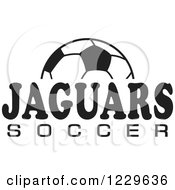Clipart Of A Black And White Ball And JAGUARS SOCCER Team Text Royalty Free Vector Illustration by Johnny Sajem