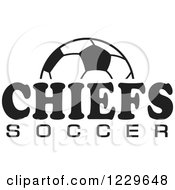 Clipart Of A Black And White Ball And CHIEFS SOCCER Team Text Royalty Free Vector Illustration by Johnny Sajem