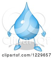 Clipart Of A Cartoon Water Drop Character Royalty Free Illustration