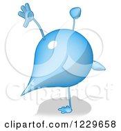 Clipart Of A Cartoon Water Drop Character Cartwheeling Royalty Free Illustration