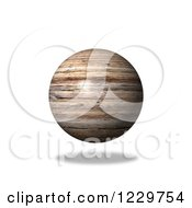 Clipart Of A 3d Floating Wooden Globe Royalty Free Illustration by oboy