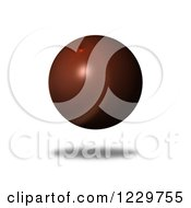 Clipart Of A 3d Floating Brown Globe Royalty Free Illustration by oboy