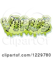 Clipart Of Green Snotty Monsters Forming The Word Virus Royalty Free Vector Illustration