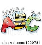 Clipart Of Ant Bee And Caterpillar Letters ABC Royalty Free Vector Illustration by Cory Thoman
